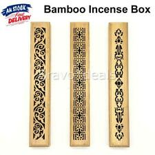 Bamboo Incense Burners Stick Holder Hollow Wooden Aromatherapy Insence Box