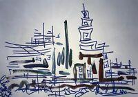 Margarita Bonke Malerei A3 PAINTING art abstrakt Landschaft landscape abstract 5
