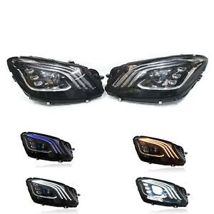 For 2013-17 MERCEDES Benz S-CLASS W222 Headlights Facelift Upgrade 2018+ LED Set