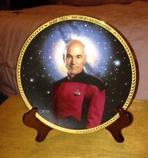 Captain Jean Luc Picard St:Tng 5th Anniv Plate Tom Blackshear