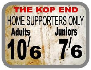 The Kop Vinatge Style Metal Sign Liverpool Vintage Sign