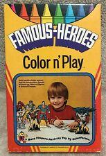Vintage Colorforms Famous Heroes COLOR n PLAY Set Unused Batman Justice League