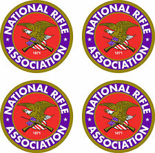 "4 National Rifle Association  Stickers 3.5""  FREE SHIPPING"