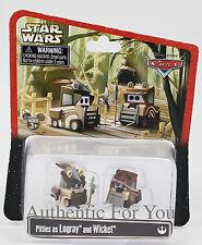 NEW Disney Star Wars Weekends Pitties as Logray & Wicket Ewok Car Toy Pixar Cars