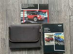 MINI COUPE & CONVERTIBLE OWNERS USER HANDBOOK MANUAL & WALLET R58 R57 2011-2015
