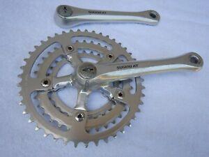Sugino AT Triple Mountain Road Bike Cranks 172.5 Crankset 110BCD 44/36/28, bolts