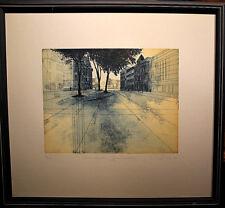 Erhard Schiel Neumünster Großflecken Entwurf Lithographie Radierung Grafik