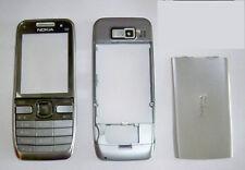 Silver Housing cover Fascia facia Faceplate case skin for nokia E52 silver