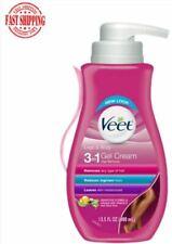 Veet Gel Hair Remover Cream For Legs And Body Sensitive Formula 13.5 Fl Oz