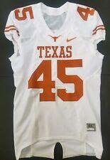 Nike Game Worn Authentic Texas Longhorns UT Football Jersey White Away #45