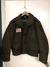 Blauer Goretex Brown Sheriff Bomber Jacket USA Flag (*No Liner included) Sz 48R