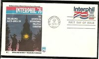 US SC #1632 Interphil '76 FDC. Fleetwood  Cachet.