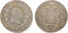 Autriche, 20 kreuzer, François Ier, 1810 Vienne, argent, SUP - 60