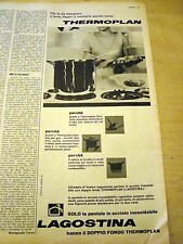 PUBBLICITA' ADVERTISING WERBUNG 1961 PENTOLE THERMOPLAN LAGOSTINA (G39)