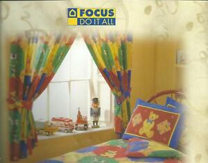 """Teddy Toy novelty 66"""" x 72"""" Curtains Multicoloured reduced to clear"""