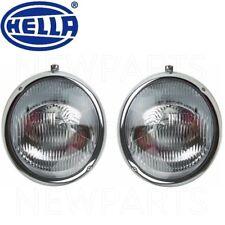 For VW Porsche 356A 356C Beetle 55-65 Pair Set of 2 Headlight Assemblies Hella