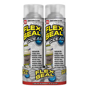 Flex Seal Spray Rubber Sealant Coating, 14-oz, Clear (2 Pack) As Seen on TV, NEW