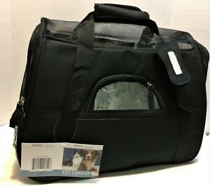 Pet Carrier NEW Paws & Pals Small Airline Approved  - Black