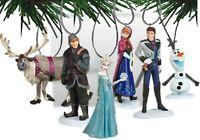 Frozen Themed 6 Christmas Ornament Set w Elsa, Anna, Olaf, Kristoff and Sven NEW