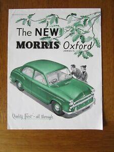 Original Motoring sales brochure, The Morris Oxford series 11. 1954