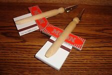 #2 Natural Wood Clothes Pin Roach Clips, #2 pk Rolling Papers, #2 Book Matches