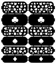 Spade Nail Art Vinyl Stencil Guide Sticker Manicure Hollow Template
