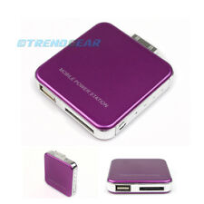 2200MAH PORTABLE EXTERNAL PURPLE BATTERY MOBILE CHARGER USB IPHONE 4S 4 3GS IPOD