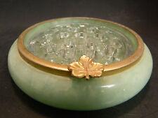 Vintage Alabaster Scaglione Italian Gr Transparent Stone & Glass 19 Hole Epergne