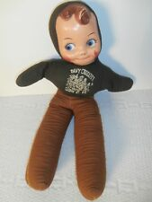 "VINTAGE DAVY CROCKETT doll 20"" Tall boy PLUSH TOY with plastic face"