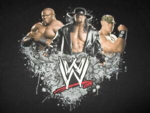 WWE 2007 BOBBY LASHLEY The UNDERTAKER JOHN CENA (XL) T-Shirt