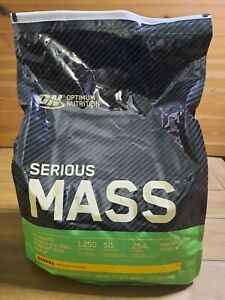 OPTIMUM NUTRITION SERIOUS MASS Banana Flavor 12 Pound Protein Powder EXP 11/2022