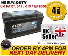017TE Exide EA1000 017 019 Car Battery - Iveco Jaguar Jeep Land Rover Mercedes