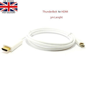 3M 10ft Thunderbolt Dispalyport to HDMI Cable for Mac to TV Video/Audio