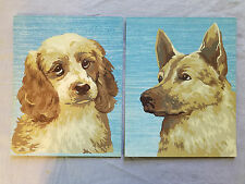 paint by number dog paintings German Shepherd & sad Cocker Spaniel puppy