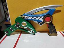 Power Rangers Dino Thunder Raptor Gun 2004 Toy Quest, 1997 green ranger blaster