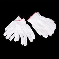 5 Paare allgemeine weiße Baumwolle Futter Handschuhe Gesundheit Arbeit DE
