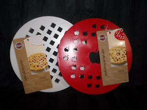 Set of 2 Norpro Pie Top Crust Cutters-Apple/Cherry Pie and Lattice Pattern