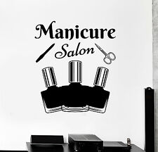 Vinyl Wall Decal Manicure Tools Salon Nail Polish Beauty Stickers (ig4707)