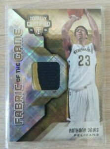 🔥 2015-16 Certified Fabric of the Game Materials Gold #FGAD Anthony Davis/10!!