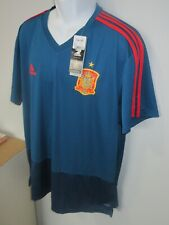 NWT Mens Adidas Spain National Team Training Football Soccer Jersey sz. 2XL