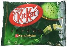 Japanese Kit Kat Matcha Green Tea Nestle Chocolate Mini 12 Bars Bag 4.91 oz