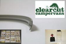 2mm Slot Cutter + 10m Campervan Knock on T-trim, Single Lipped, Light Grey, 15mm