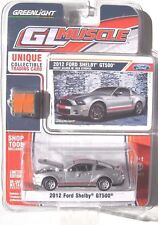 GREENLIGHT GL MUSCLE SERIES 5 2012 FORD SHELBY GT500 Ingot Silver w/ Red Stripes