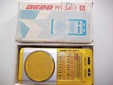 Vintage Soviet Russian USSR Portable MW LW Radio VEGA-RP-341-1,in box, Works!