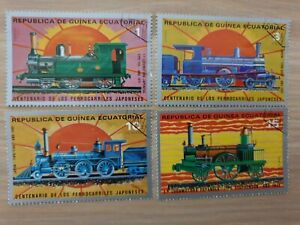 Equatorial Guinea 1972 Railway/Trains 4 stamps CTO