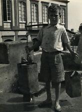 Photo F.Fiando Enfant Porteur d'Eau Probablement le Portugal Vers 1950