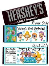 12 Bubble Guppies Birthday Party Candy Baby Shower Hershey Bar Wrappers Favors