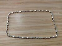 "Tiffany & Co. Elsa Peretti 16"" 925 Sterling Silver Continuous Teardrop Necklace"