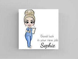 Thank You to special Nurse Card can be personalised greetings hospital glitter 1