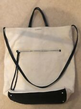 Trenery by Country Road canvas tote bag with leather trim